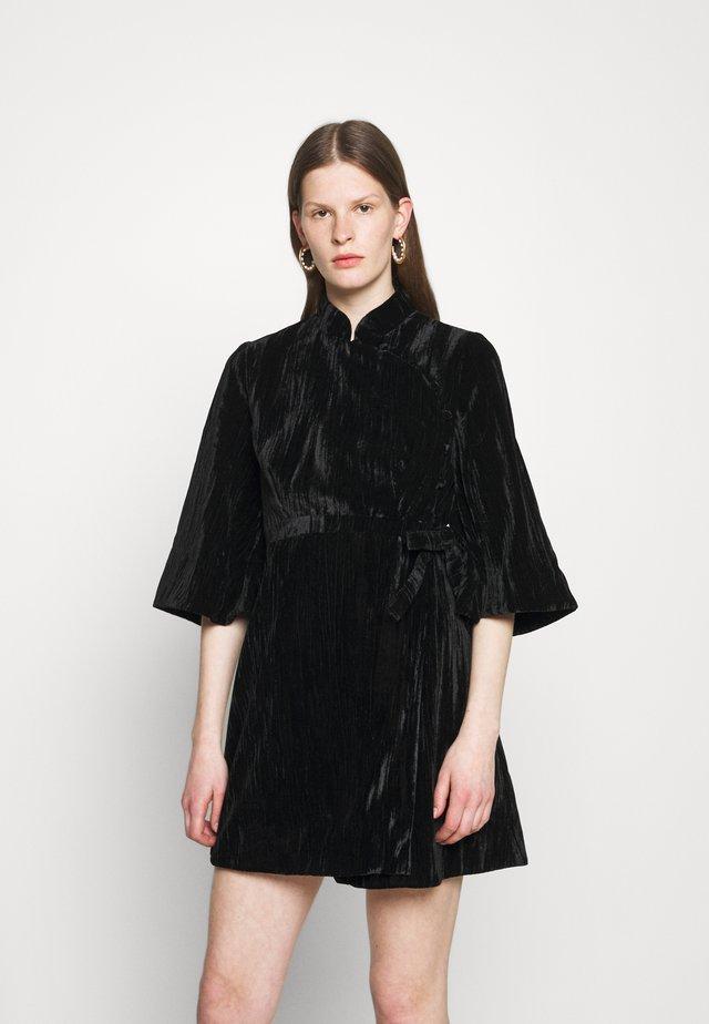 KIMONO WRAP DRESS - Vestito elegante - black