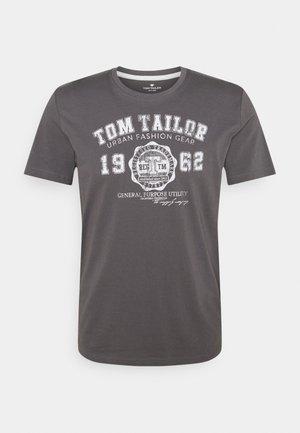 LOGO TEE - T-Shirt print - quiet mid grey