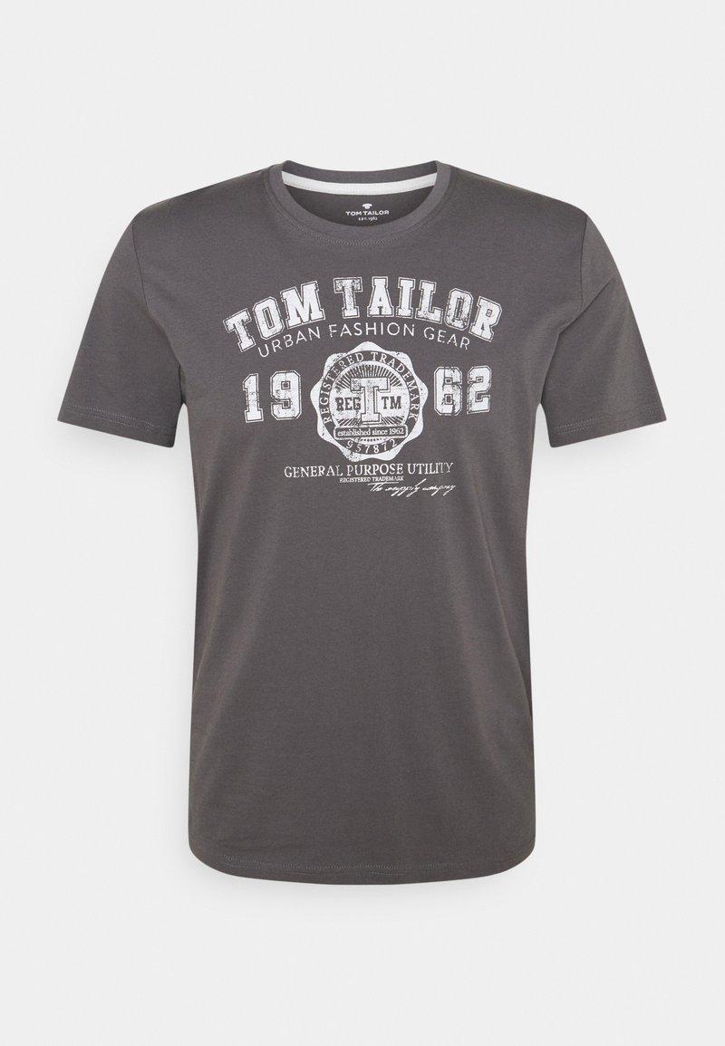 TOM TAILOR - LOGO TEE - T-shirt imprimé - quiet mid grey