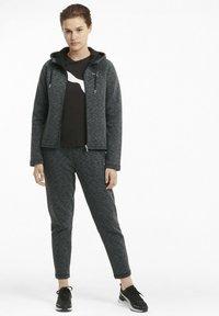 Puma - Zip-up hoodie - black-heather - 1