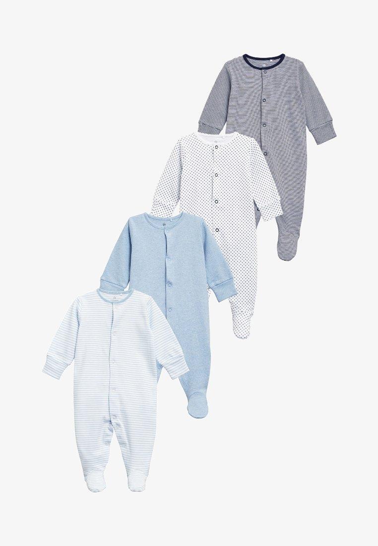 Next - SLEEPSUITS 4 PACK  - Pyjamas - blue