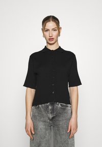 Monki - CAT - Button-down blouse - black - 0