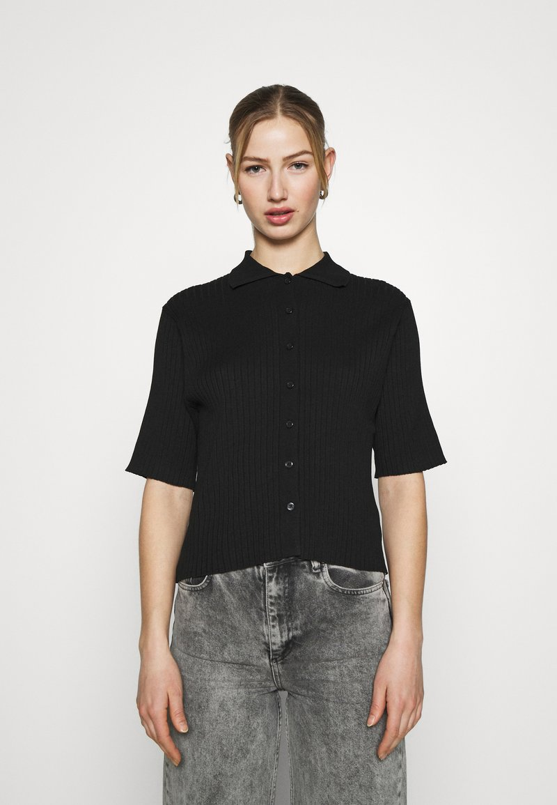 Monki - CAT - Button-down blouse - black