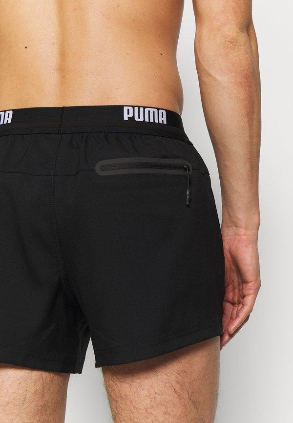 Puma SWIM MEN LOGO LENGTH - Szorty kąpielowe - black/czarny Odzież Męska IKLO