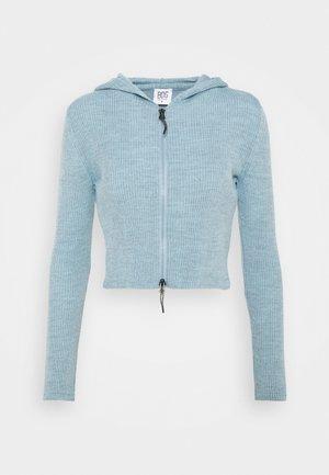 CROPPED ZIP HOODIE - Mikina na zip - baby blue