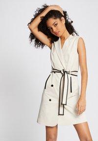 Morgan - Robe chemise - beige - 0