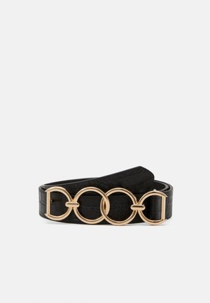 PCULLI WAISTBELT - Midjebelte - black/gold-coloured