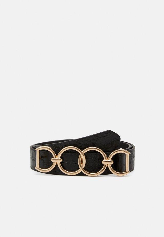 PCULLI WAISTBELT - Waist belt - black/gold-coloured