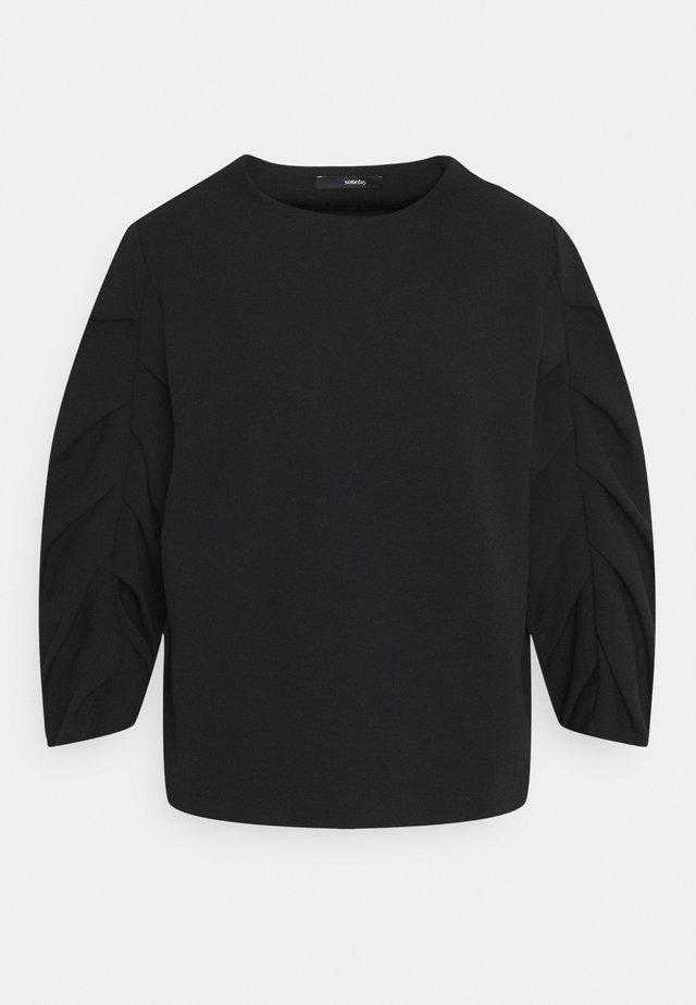 UMERE - T-shirt à manches longues - black