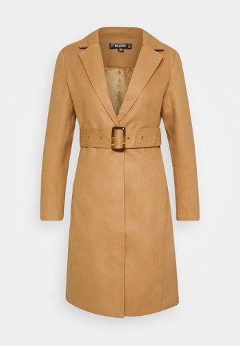 BELTED FORMAL COAT - Klasyczny płaszcz - tan