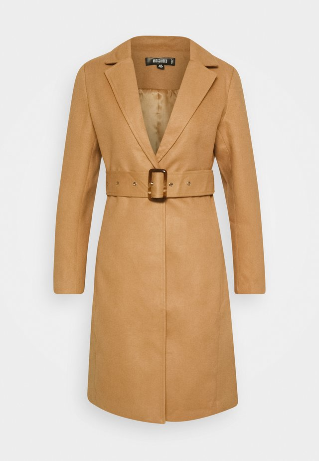 BELTED FORMAL COAT - Cappotto classico - tan