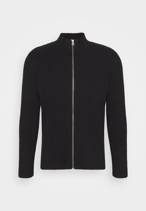 LOGAN ZIP CARDIGAN - Kofta - black