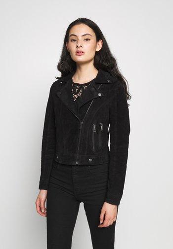 VMROYCESALON SHORT JACKET - Leather jacket - black