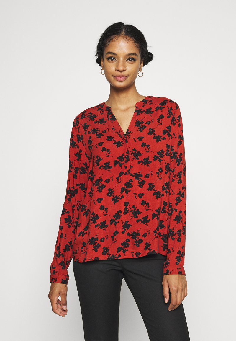 b.young - BYJOSA V NECK - Long sleeved top - arabian spice