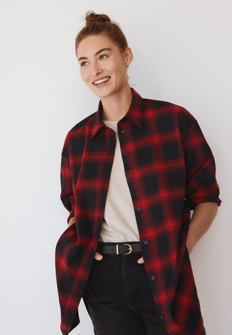 Mango - GRUNGE - Button-down blouse - rød