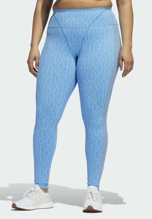 IVY PARK MESH MONOGRAM LEGGINGS - Leggings - Trousers - blue