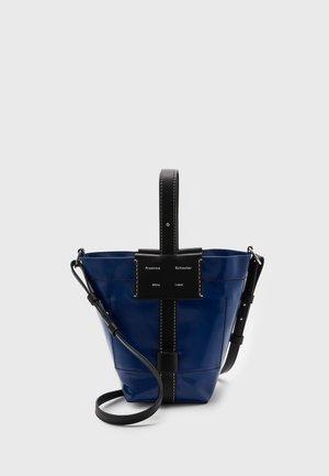 SMALL COATED CANVAS BUCKET BAG - Across body bag - blue