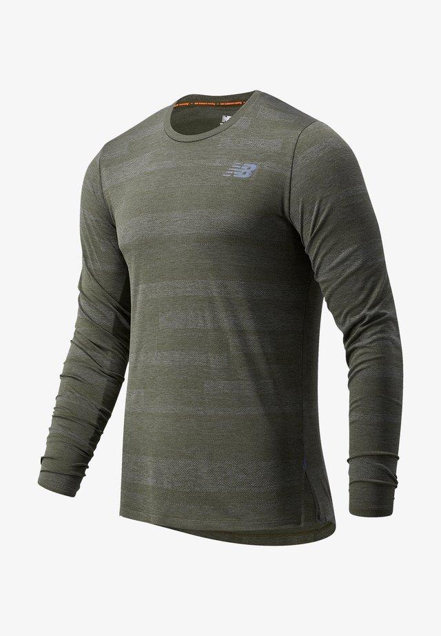 T-shirt à manches longues - oak leaf green heather