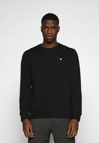 Abercrombie & Fitch - ICON CREW - Sweatshirt - black - 0