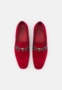 Jeffery West - JUNG SKULL SNAFFLE LOAFER - Scarpe senza lacci - red - 3