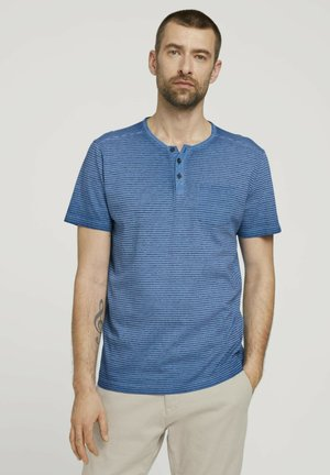 Print T-shirt - victory blue printed stripe