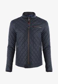 Giorgio Di Mare - Leather jacket - navy tafta - 0