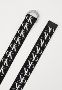 Calvin Klein Jeans - TAPE D-RING - Pásek - black - 1