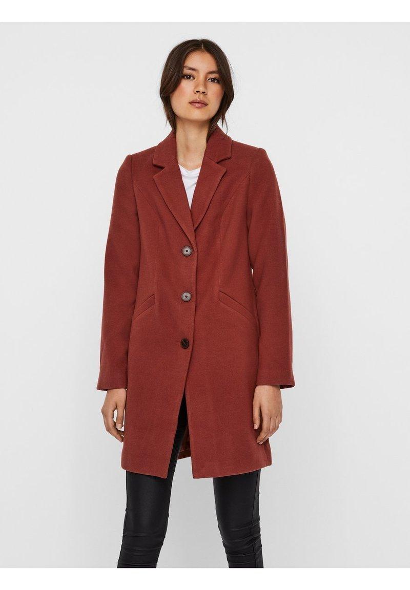 Vero Moda - Classic coat - mahogany