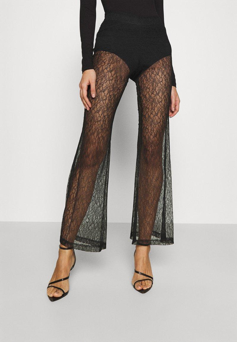 Weekday - JULIE TROUSER - Trousers - black