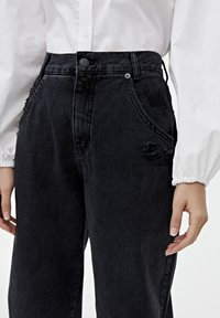 PULL&BEAR - Straight leg jeans - black - 3
