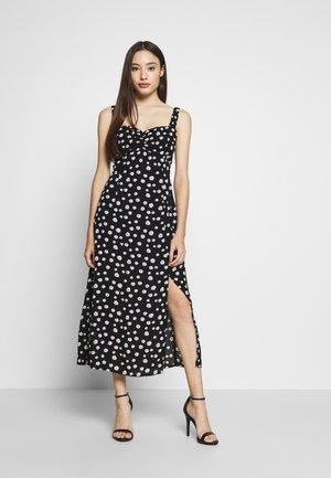 BLACK DAISY SWEETHEART CRINKLE DRESS - Denní šaty - black