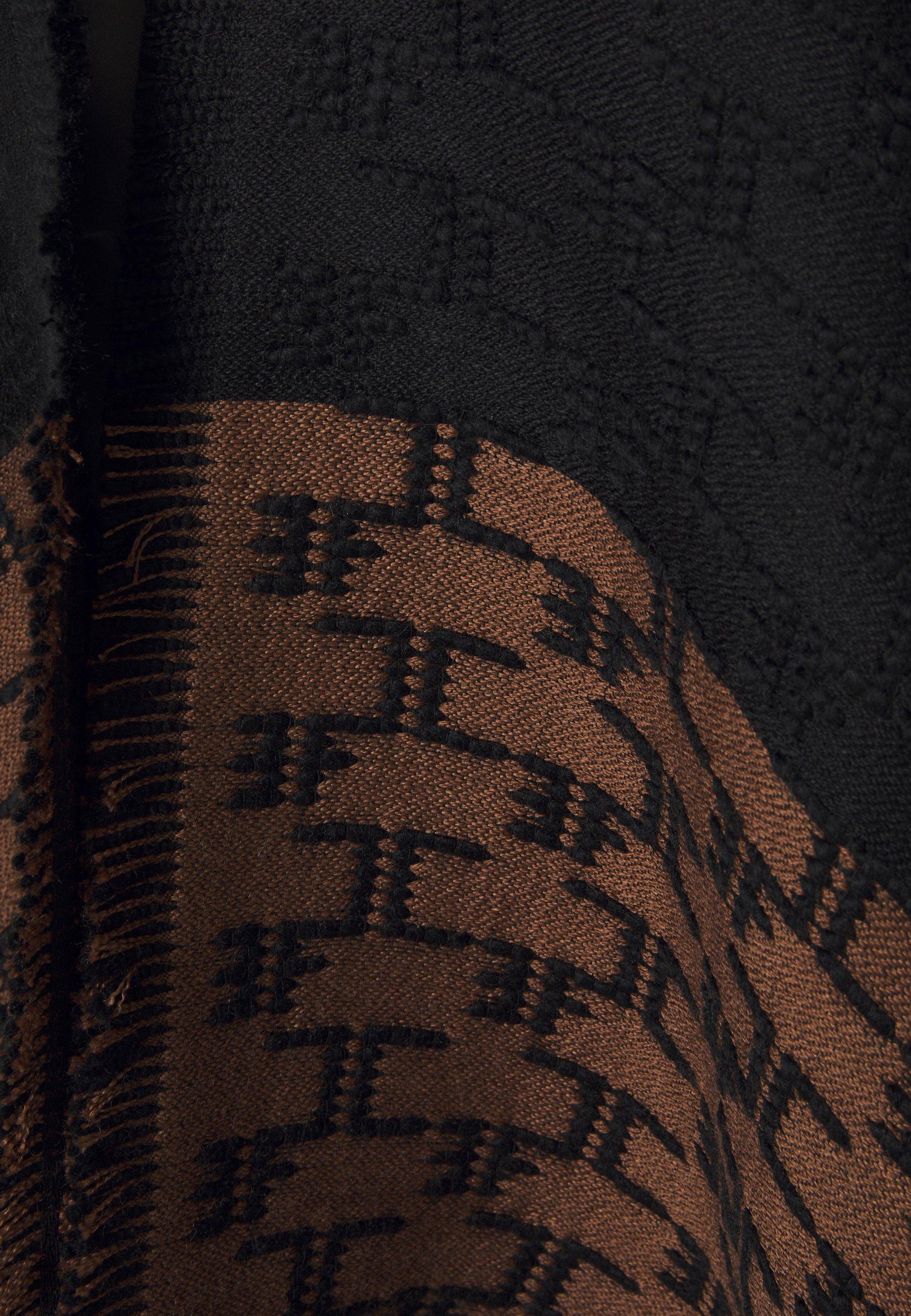 Asombroso Ropa de mujer Elisabetta Franchi WOMEN'S COAT Poncho nero/terra nfCHUx