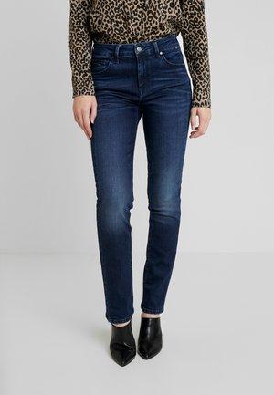 DARIA - Jeans Straight Leg - glossy blue glam