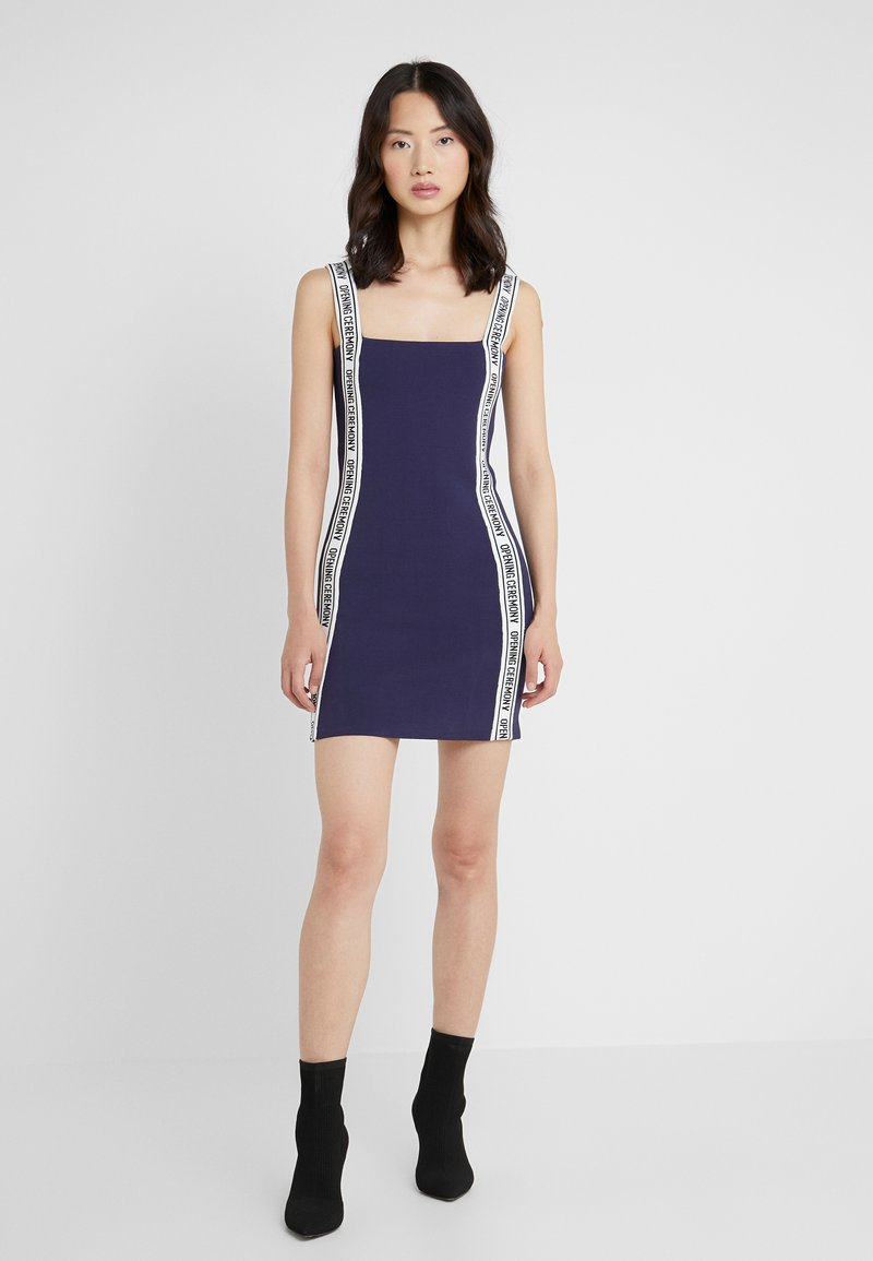 Opening Ceremony - LOGO MINI DRESS - Etuikjoler - collegiate navy