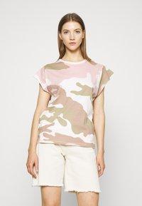 G-Star - GSRAW GYRE KNOT R T WMN CAP SL - Print T-shirt - khaki - 0