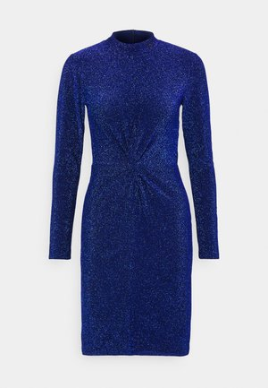 DRESS TWIST - Cocktail dress / Party dress - metallic blue