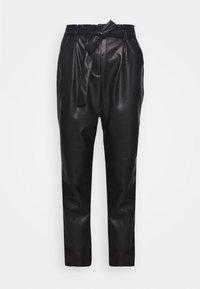 Miss Selfridge - PAPERBAG TROUSER - Trousers - black - 3