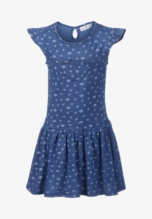 Jersey dress - jeans blue