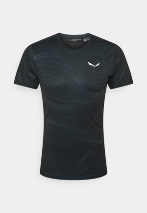 SECEDA DRY - T-shirt med print - black out