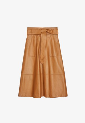 Kožená sukně - brown