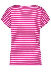 Gerry Weber - FLORAL BEDRUCKTES  - Print T-shirt - lila/pink/ecru/weiss patch - 4