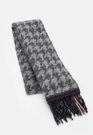 WOMEN SCARF DOUBLE HOUNDSTOOTH - Scarf - black/white/pink