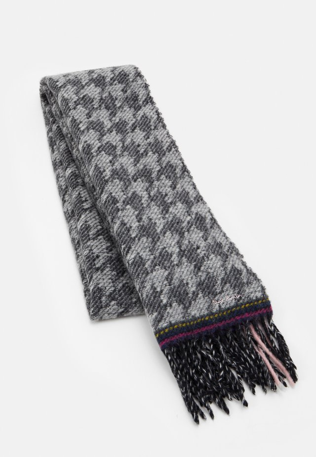 WOMEN SCARF DOUBLE HOUNDSTOOTH - Bufanda - black/white/pink
