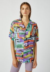 PULL&BEAR - Button-down blouse - multi-coloured - 0