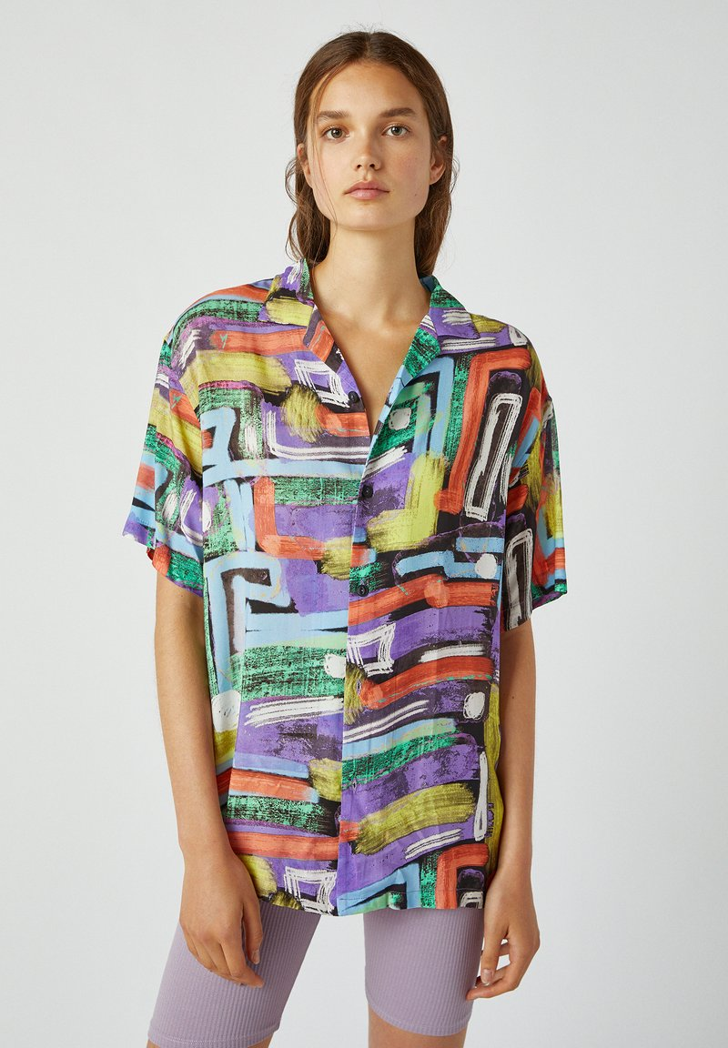 PULL&BEAR - Button-down blouse - multi-coloured