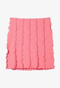 Bershka - A-line skirt - pink - 4