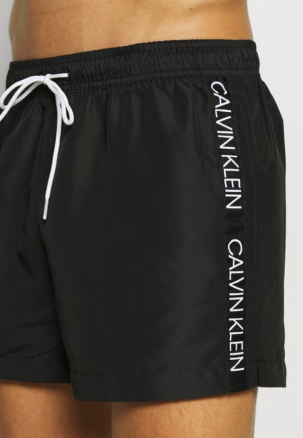 Calvin Klein Swimwear DRAWSTRING - Szorty kąpielowe - black/czarny Odzież Męska WKLS