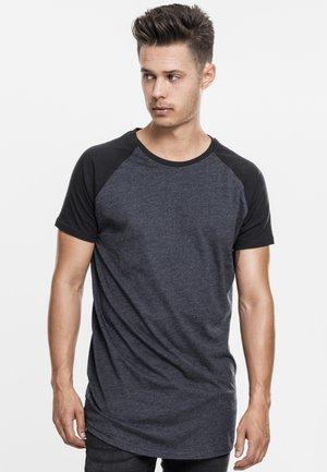 HERREN - Print T-shirt - grey/black