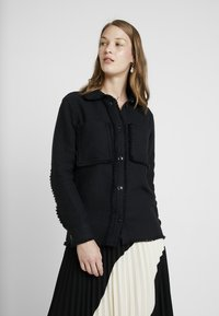 Samsøe Samsøe - ABIONA OVERSHIRT - Button-down blouse - black - 0