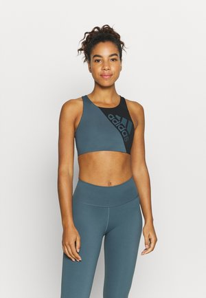 Medium support sports bra - legacy blue/black